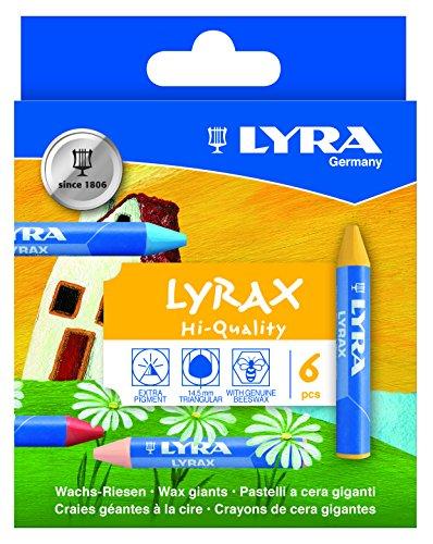 lyra-cire-lyrax-riesen-carton-avec-craies-a-la-cire-couleurs-assorties-6-wachsmalkreiden