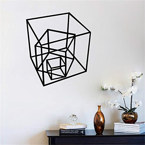 Yanqiao Waterproof Europe and America Creative Children Room Decoration Removable Vinyl Geometry Shape Wallpaper Wall Stickers 25.2*22