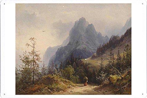 artwork-oil-paint-of-heinrich-carl-schubert-blick-auf-das-muhlsteinhorn-on-tin-sign-by-masterpiece-c