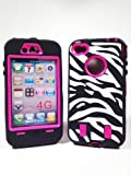 IPhone 4/4S Zebra Case with Hot Pink Shell - Fast Shipping From USA - Cyber Monday Sale