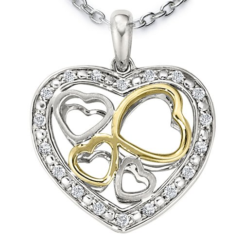 Ze Sterling Silver Diamond Antiqued Heart Locket. 18