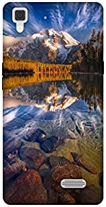 The Racoon Lean NATURE hard plastic printed back case / cover for Oppo R7 Lite