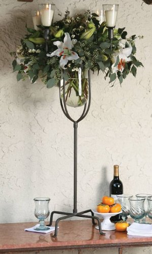 Iron candelabra centerpieces tall multi candle
