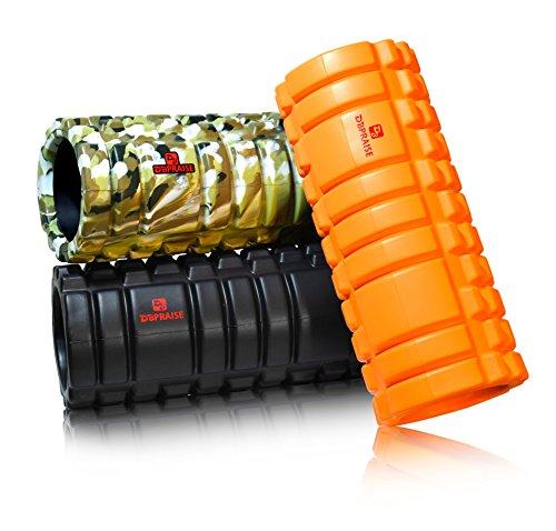 特典:写真付きマニュアル DB Praiseブランドのフォームローラー (Foam Roller) スポーツトレーニング健康器具 ローラー グリッド ボール 用途:ストレッチ、ほぐし、筋トレ、柔軟、肩、腰、首、上半身、背中、足、肩甲骨、筋など (G Red)