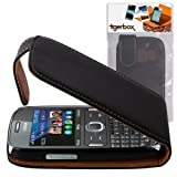 Shop4 Black Leather Flip Wallet Case For Nokia Asha 302 Mobile Phone with Screen Protector