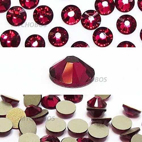 RUBY (501) red Swarovski NEW 2088 XIRIUS Rose 34ss 7mm flatback No-Hotfix rhinestones ss34 18 pcs (1/8 gross) *FREE Shipping from Mychobos (Crystal-Wholesale)*
