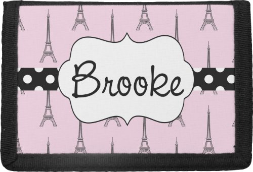 Eiffel Tower Personalized Trifold Wallet