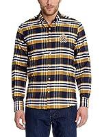 POLO CLUB Camisa Hombre Checks (Azul Marino)
