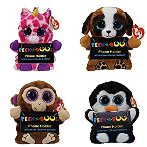 TY Beanie Boos - Peek-A-Boos - SET of 4 (4 inch - Phone Holder with Cleaner) from Ty