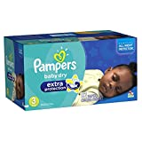 Pampers Baby Dry Extra Protection Diapers Size 3 Super Pack 92 Count (Packaging May Vary)