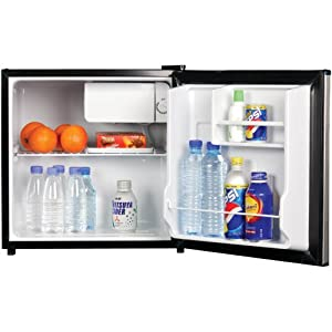 Magic Chef MCBR170BMD 1.7 Cubic Feet Refrigerator, Black
