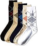 Arrow Men's Plain Knee-high Socks (Pack of 5) (8904135548050_Multicoloured)