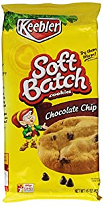 Keebler Soft Batch Chocolate Chip Cookies, 15-Ounce (Pack of 6)