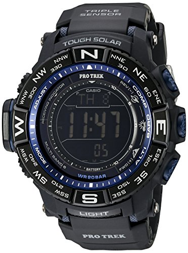 Casio Men's PRW-3500Y-1CR Pro Trek Quartz Solar Atomic Digital Display Black Watch