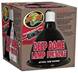 Zoo Med Deep Dome Lamp Fixture, Black
