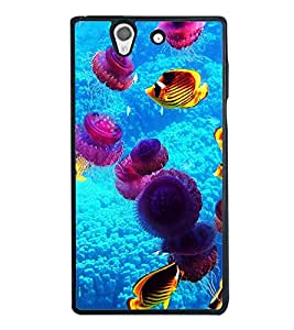 printtech Fish Coral Underwater Back Case Cover for Sony Xperia Z , Sony Xperia Z L36h
