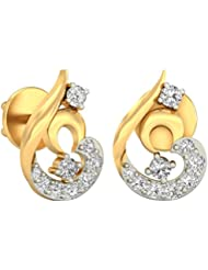 WearYourShine By PC Jeweller The Roisin 18 K Gold And Diamond Stud Earrings
