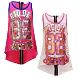NEW GIRLS KIDS RIO DE JANEIRO ZIP-BACK GIRLS BASKETBALL VEST TOP AGE 7-13 YEARS