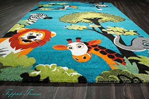 Kinderteppich tiere  Spielteppich Kinderzimmer Teppich Zootiere niedliche bunte Tiere ...