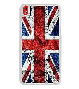 UK Flag 2D Hard Polycarbonate Designer Back Case Cover for HTC Desire 816 :: HTC Desire 816 Dual Sim :: HTC Desire 816G Dual Sim