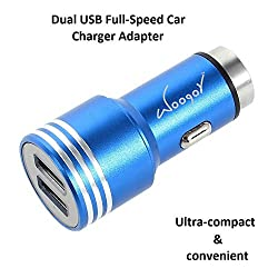 Woogor Car Charger 2.1 A , 2 Port Hi Speed Car Charger (Bullet),For All Mobiles, Smartphones, Tabs, E-Readers, Camera, Power bank, GPS, MP3 players and other Micro USB Compatible Devices... Random (Assorted) colors