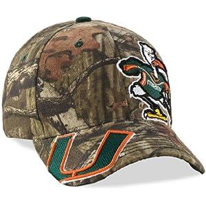 Buy Legendary Whitetails Mens Mossy Oak Camo Double Barrel Collegiate Cap - Miami Hurricanes Miami One Size by Legendary Whitetails