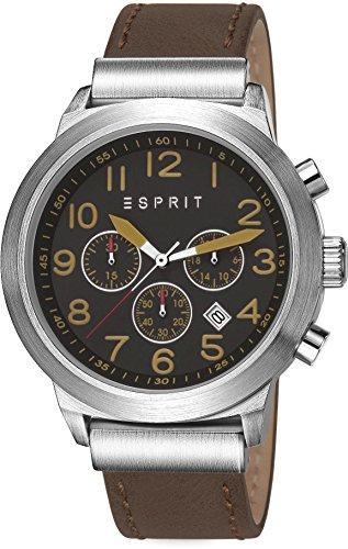 Esprit ES108041001 - Reloj de cuarzo para hombre, correa de cuero