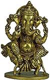 Exotic India Vijay Ganapati - Brass Statue