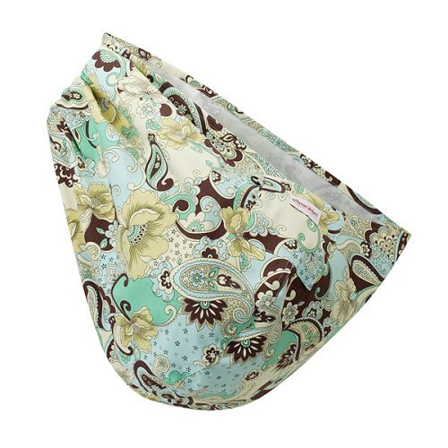 Peanut Shell Boho Chic Paisley Baby Sling, Blue/Brown, Small/Medium