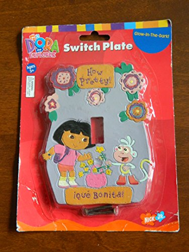 Dora The Explorer Glow-In-The-Dark Switch Plate