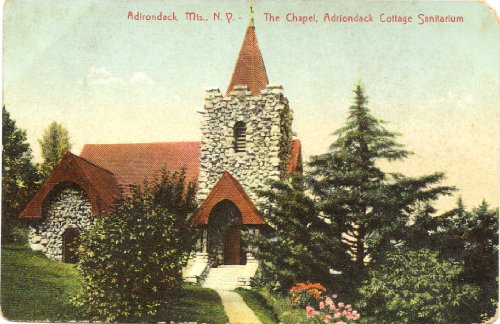 1908 Vintage Postcard The Chapel - Adriondack