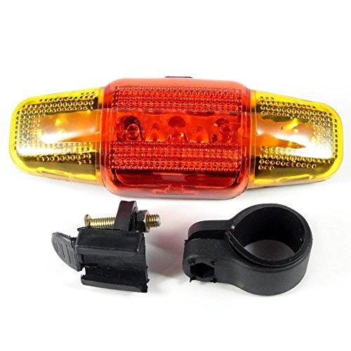 Bicicletta luci posteriori LED con 5LED e 3modalità di illuminazione funzioni durata Lichtblick luce