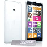 Yousave Accessories Nokia Lumia 1320 Case Clear Silicone Gel Cover