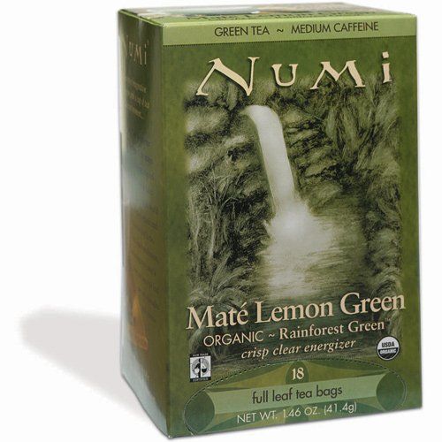 Numi | Rainforest Green | Organic Mate Lemon Green | 18 Teebeutel