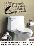 """If You Sprinkle When You Tinkle"" Wall Décor Sticker Vinyl Decal - Bathroom"