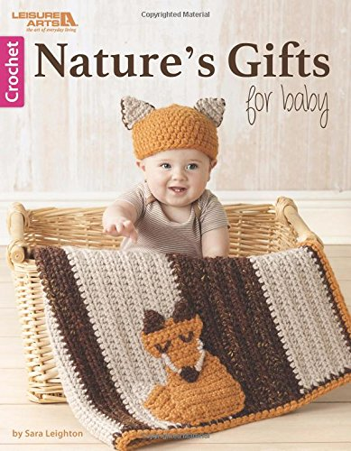 Nature's Gifts for Baby - Matching Woodland Friend's Fox Blanket and Hat Crochet Pattern - great baby gift!