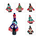 Christmas Wine Bottle Hat and Scarf Set (1 Set, Assorted Styles)