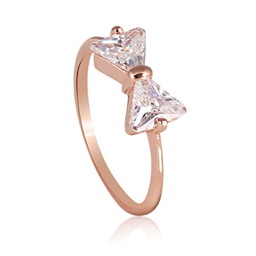 Fashion-Plaza-18k-Rose-Gold-Plated-Bow-Ring-with-Triangle-Cubic-Zircon-R422