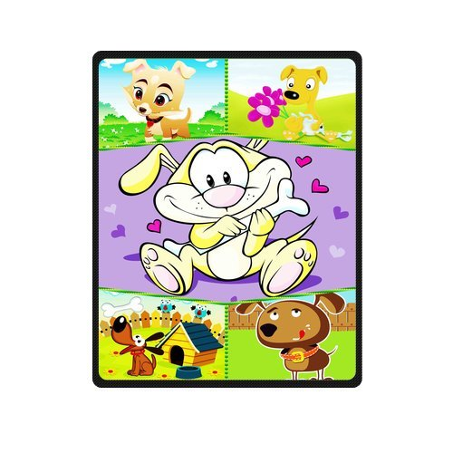 "Personalized Cute Dogs Jigsaw Blanket 40""X 50""(Small) front-894101"