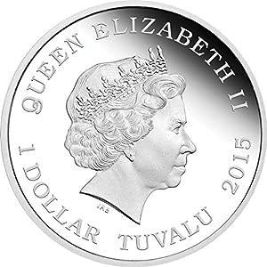 2015 TV star trek U.S.S. ENTERPRISE NCC-1701-D Starship Star Trek Series Silver Coin 1$ Tuvalu 2015 Dollar Perfect Uncirculated