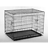 "48"" Large Folding Wire Pet Cage For Dog Cat"