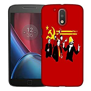 Snoogg Red Party Designer Protective Back Case Cover For MOTOROLA G4 / G4 PLUS
