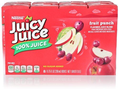 Juicy Juice Fruit Punch Slim Pack (8 Count, 6.75 Fl Oz Each) front-128430