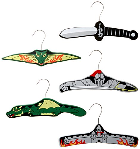 Kidorable Boys' Dragon Knight Hanger Set, Green/Grey/Black, One Size/Small