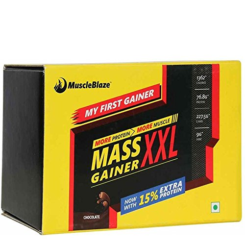 MuscleBlaze My First Gainer XXL, Chocolate 5 sachets/pack