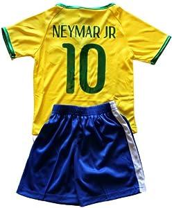 Buy FWC 2014 Neymar Jr 10 Brazil Brasil Futbol Football Soccer Kids Jersey & Short by CBF