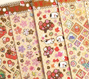 10-styledrle-Japon-srie-Lucky-dorure-autocollant-de-style-et-de-dcoration-aticker-tiquettetlphone-Wholesale