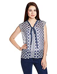 Chemistry Women's Tunic Shirt (C16-612WTTOP_Blue and White_X-Small)