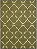 """Conur Collection Trellis Contemporary Modern Design Area Rug Rugs (More Color Options Available) (5'3""""x6'11"""", Sage Green)"""