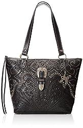 American West Mystic River Zip Top Bucket Zipper Shoulder Bag, Steel Blue, One Size